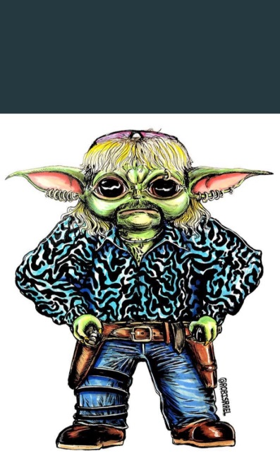 PHOTO What It Would Look like If Joe Exotic Reproduced With Baby Yoda