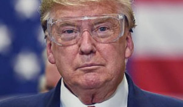 PHOTO Donald Trump Wearing Safety Glasses