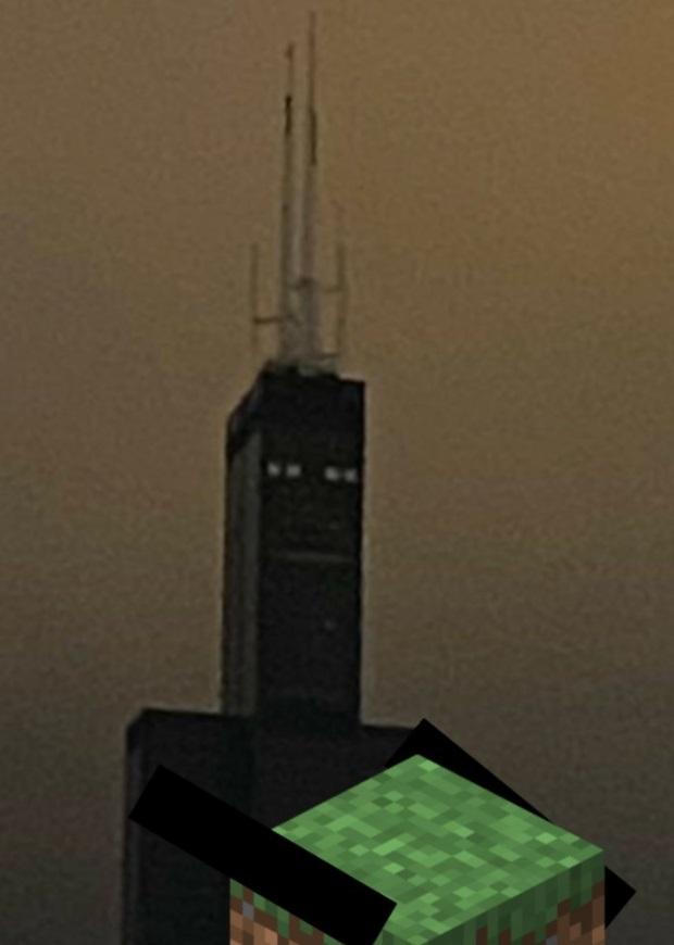 PHOTO Sears Tower Looks Like Robot