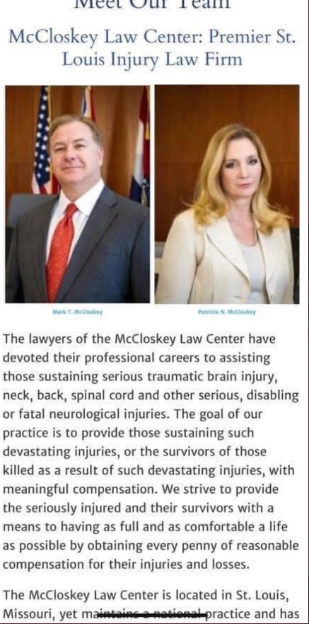 PHOTO Patricia McCloskey And Mark McCloskey's Law Firm