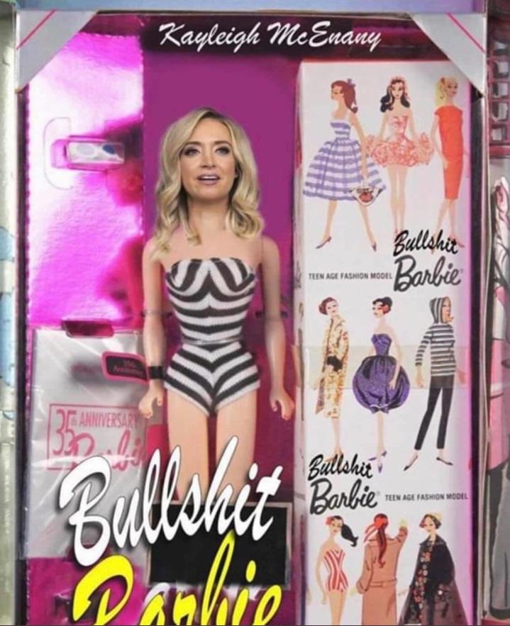 PHOTO Kayleigh McEnany Bullsh*t Barbie New In The Box